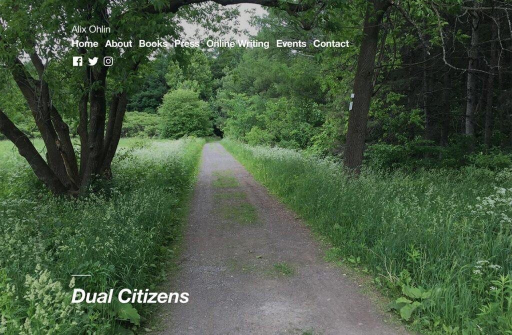Alix Ohlin author site screenshot