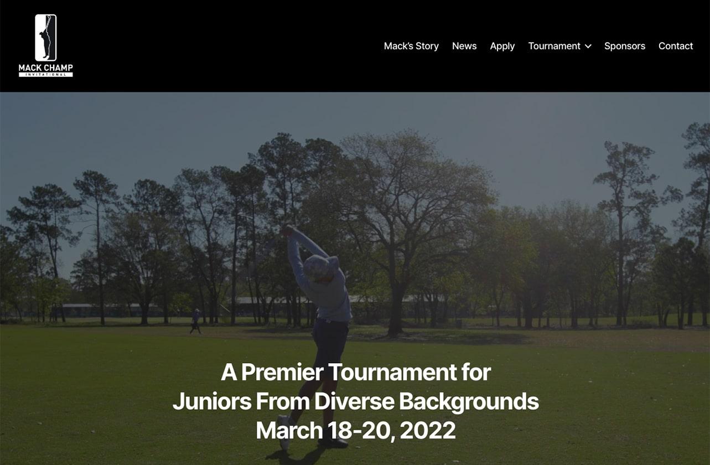 Mack Champ Invitational homepage screenshot june 2021
