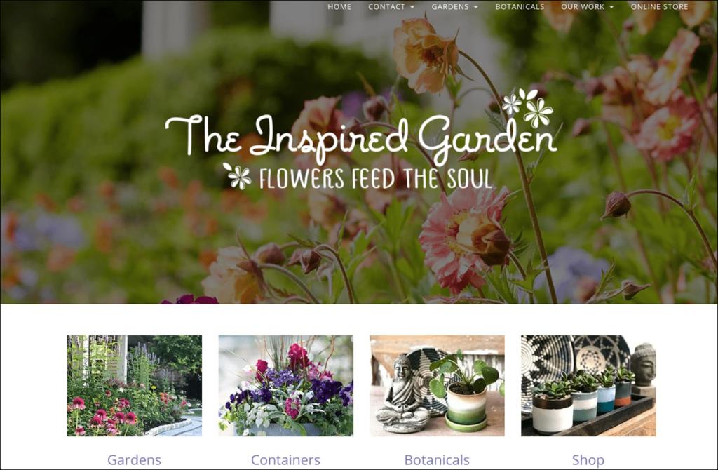 Inspired Garden homepage