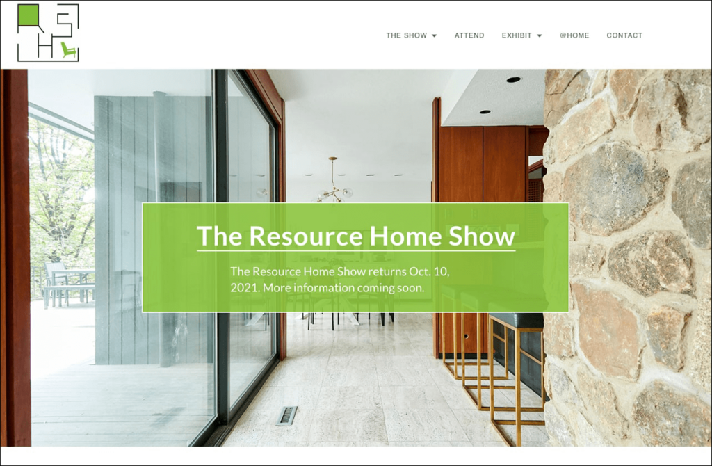 Resource Home Show homepage